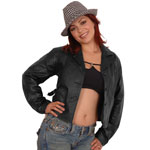 A32 Ladies Short Button Jacket