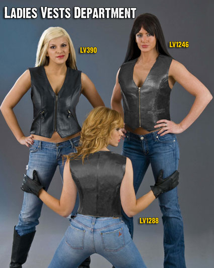 Click Here to Go to the Ladies Leather Vests Department