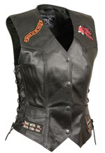 LV4900 Ladies Vest with Sewn Patches