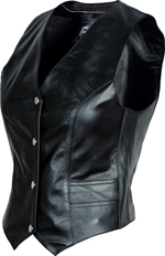 LV555 womens Plain Leather Vest