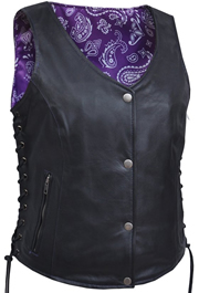 Click here for the LV6890 Ladies Vest with Purple Paisley Liner