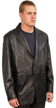 221 MENS BLAZER LEATHER JACKET