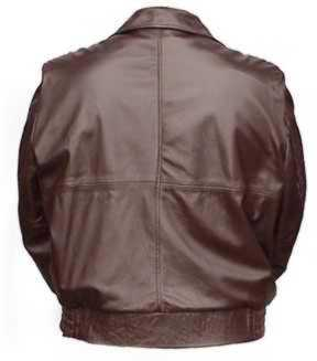 Back of the Carl-soft Lambskin Leather Jacket