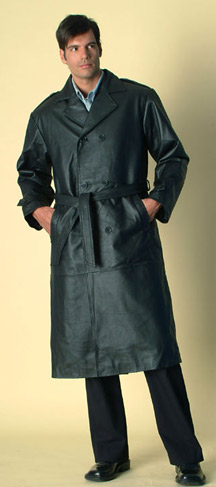 Style A22389  Mens  Trench   Coat -- San Diego Leather Jacket