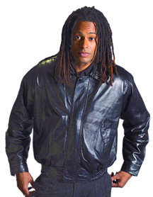 Mens A22006 Mens Leather Waist Jacket