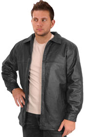 A22044 Mens Leather Stadium Jacket