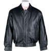 Click for A22100 USA 3 Leather Waist Jacket with Eagle Emblem Back View