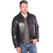 B1102 Mens Classic Lambskin Leather Waist Jacket