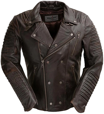B2806 Mens Wine Lambskin Ribbed Accents Waist Jacket with Asymmetrical Front Zipper Large View