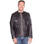 B7128 Mens Edgy Cool Fashion Lambskin Leather Jacket