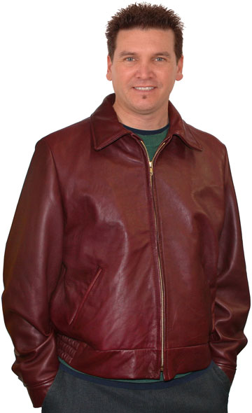 Kobe Mens Lambskin Leather Waist Jacket Made in the USA