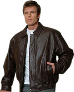 M100 Men's Brown Lambskin Leather Bomber