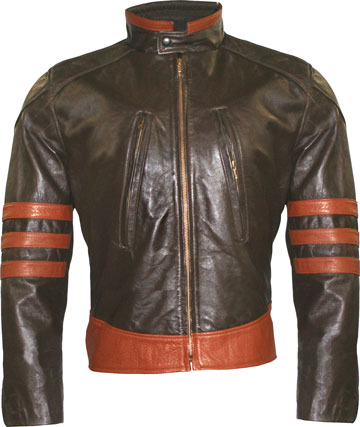 Wolverine Mens Motorcycle Leather Jacket Made in the USA