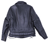 102XP Mens Vintage Pattern Stitching Motorcycle Leather Jacket Made in the USA Back View