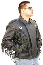 2004 Fringe Leather Jacket