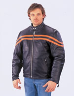 528 MENS STRIPES  MOTORCTCLE JACKET