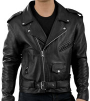 C100 Classic Leather Motorcycle Jacket