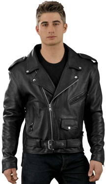 C100 LEATHER BIKER JACKET SALE $99.95