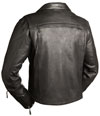 LV4510 Ladies Motorcycle Leather Vest Back View