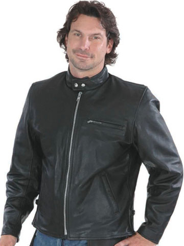 C502 Motorcycle Leather Sport Jacket With Kosack Collar
