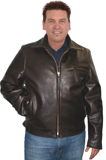 Highway Man Leather Motorcycle Jacket Made in the USA Larger View