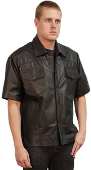 Mens Shirt 2 USA Made Leather Shirt