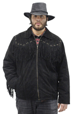 S49924 Suede Jacket with Fringe