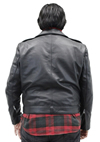 Deadman Mens Motorcycle Leather Jacket Back View