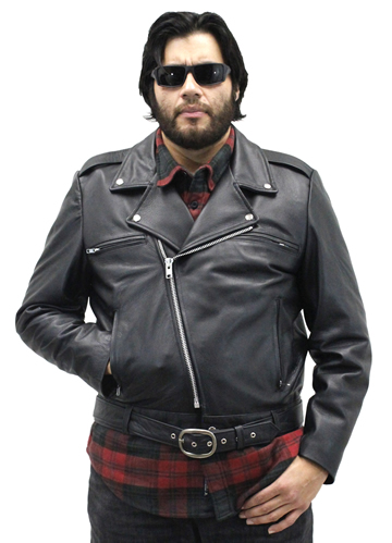 Deadman Mens Motorcycle Leather Jacket