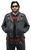 Deadman Mens Motorcycle Leather Jacket View 3