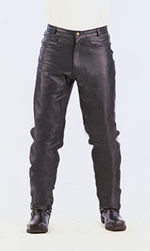 P100 Mens Basic Leather Pants