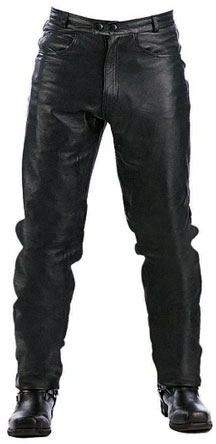 P100 Basic Men's Biker Leather Motorcycle Jeans