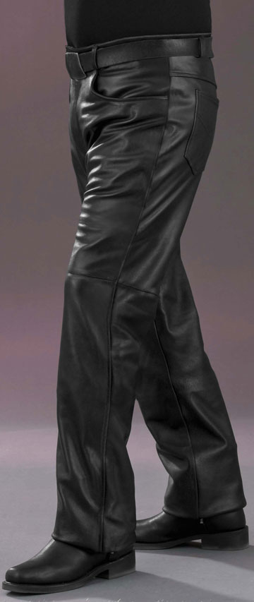 P115 Mens Leather Jean Style Pants Made In The Usa