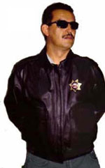 A2 Police Leather Bomber Jacket USA Made