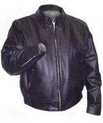 LAPD Biker Leather Jacket for Motorcycle Patrol USA Made