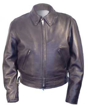 Police A Biker Leather Jacket for Motorcycle Patrol USA Made