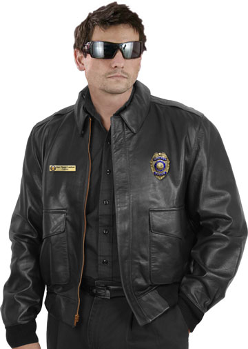 A2 Police Leather Bomber Uniform Jacket