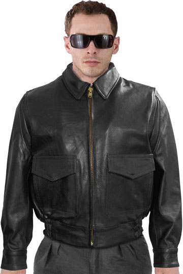 G1 Police Leather Bomber with Leather Cuffs & Waist