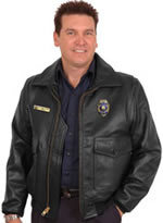 G1 Police Leather Bomber Jacket USA Made