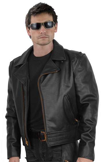 Police A Law Enforcement Uniform Style Motorcycle Riding Leather Jacket