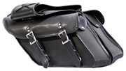 Saddle-4088 PVC Dyna Motorcycle Lock Ready Zip-Off Saddle Bags