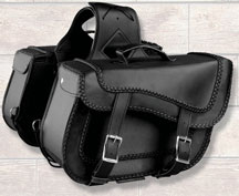Braided Saddle Bag 668MD made with Weather Resistant PVC Material Zip-Off Bag