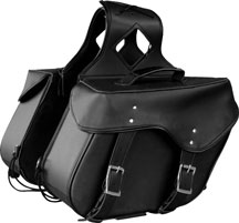 Plain Slanted Saddlebags 552  made with Weather Resistant PVC Material Zip-Off Bag