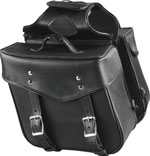 Plain Slanted Saddlebags 648 made with Weather Resistant PVC Material Zip-Off Bag