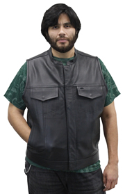 MV30 Mens Club Vest with Hidden Snaps Made in the USA