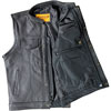 V320Z Mens Leather Club Vest with Snaps and Hidden Zipper Back View