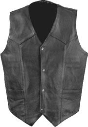 V1310 Mens Plain Leather Vest