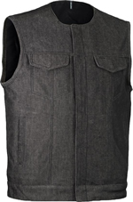 Click here for the VDM639 Charcoal Denim Vest No Collar