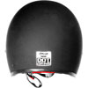 Bobber 500 Helmet D.O.T. Approved 70's Retro Style Helmet Flat Black Back View
