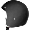 Bobber 500 Helmet D.O.T. Approved 70's Retro Style Helmet Flat Black Side View